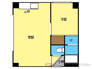 札幌市中央区南8条西10丁目1賃貸マンション間取図面
