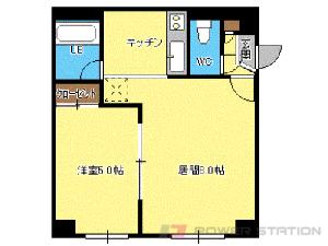 札幌市中央区南8条西8丁目1賃貸マンション間取図面