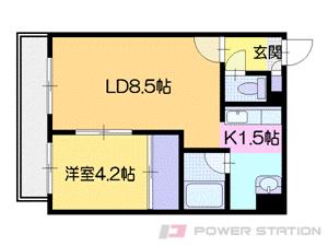 札幌市中央区南7条西8丁目0賃貸マンション間取図面