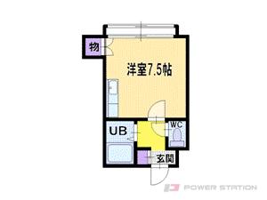 札幌市中央区南8条西8丁目0賃貸マンション間取図面