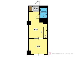 札幌市中央区南7条西5丁目1分譲リースマンション間取図面