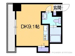 札幌市中央区南7条西6丁目1賃貸マンション間取図面