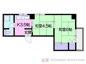 札幌市中央区南7条西2丁目0賃貸マンション間取図面