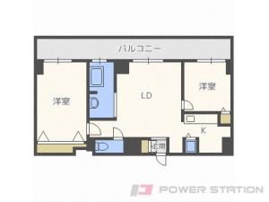 中島公園2LDKマンション図面