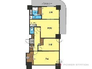 札幌市中央区南8条西4丁目1賃貸マンション間取図面