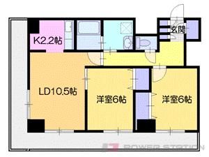 中島公園2LDK分譲リースマンション図面