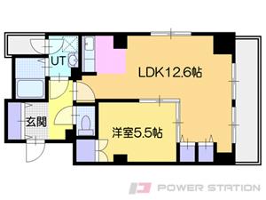 札幌市中央区南6条西1丁目0賃貸マンション間取図面