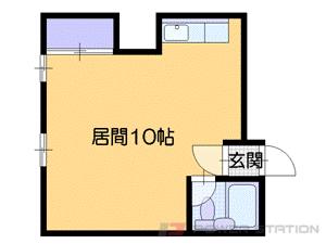 中島公園1R分譲リースマンション図面