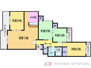 札幌市中央区宮の森1条16丁目0賃貸マンション間取図面