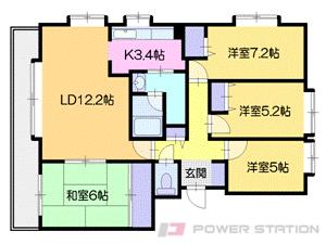 札幌市中央区円山西町3丁目0賃貸マンション間取図面