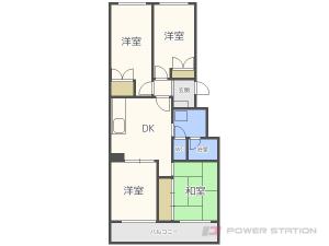 円山公園4DKマンション図面