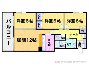 札幌市中央区南10条西20丁目0賃貸マンション間取図面