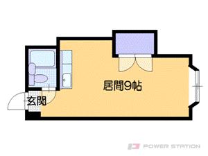 札幌市中央区南7条西18丁目1賃貸マンション間取図面