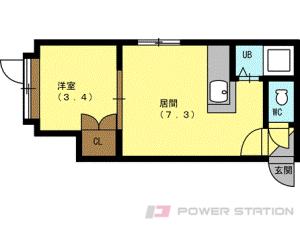 札幌市中央区南8条西18丁目0賃貸アパート間取図面