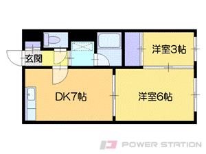 札幌市中央区南8条西14丁目1賃貸マンション間取図面