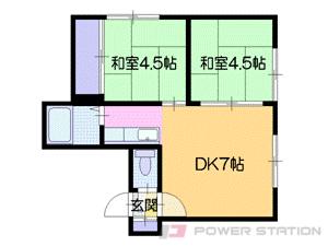 札幌市中央区南10条西15丁目0賃貸アパート間取図面