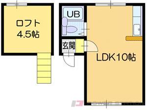 札幌市中央区南11条西15丁目0賃貸アパート間取図面