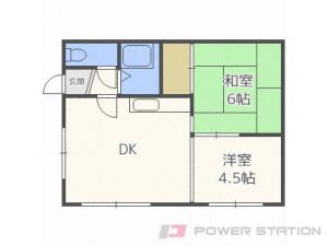 札幌市中央区南9条西11丁目0賃貸アパート間取図面
