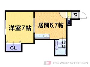 札幌市中央区南10条西11丁目0賃貸マンション間取図面