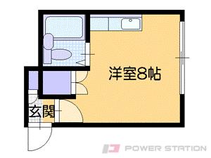 札幌市中央区南10条西13丁目1賃貸アパート間取図面