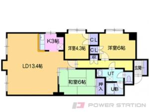 中島公園3LDKマンション図面