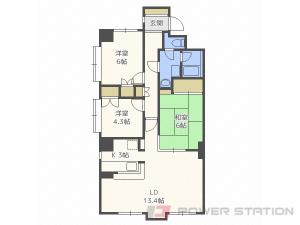 札幌市中央区南9条西9丁目1賃貸マンション間取図面