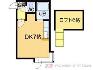 札幌市中央区南10条西9丁目1賃貸アパート間取図面