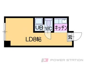 札幌市中央区南6条西9丁目0分譲リースマンション間取図面
