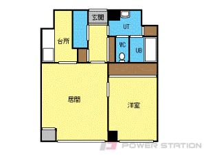 中島公園1LDKマンション図面