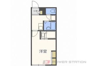 札幌市中央区南9条西7丁目0賃貸アパート間取図面