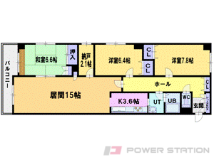札幌市中央区南10条西8丁目1賃貸マンション間取図面