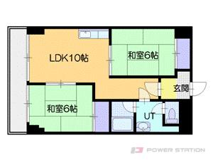 札幌市中央区南11条西7丁目0賃貸マンション間取図面