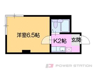 札幌市中央区南11条西8丁目1賃貸マンション間取図面