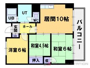 札幌市中央区南11条西7丁目1分譲リースマンション間取図面