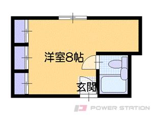 札幌市中央区南11条西1丁目0分譲リースマンション間取図面