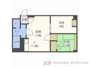札幌市中央区双子山3丁目1賃貸マンション間取図面