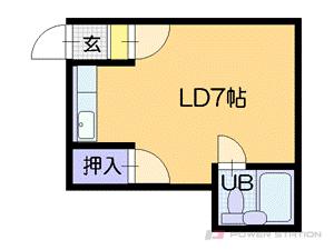 札幌市中央区南5条西11丁目0賃貸マンション間取図面