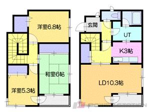 札幌市中央区南13条西23丁目1分譲リースマンション間取図面