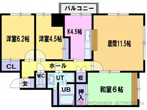 西線14条3LDK分譲リースマンション図面