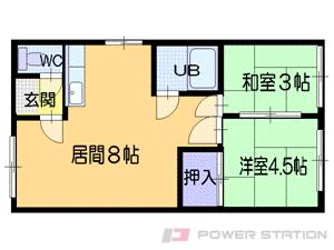 札幌市中央区南14条西14丁目0賃貸アパート間取図面