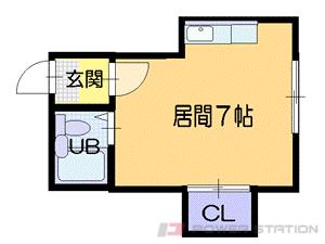札幌市中央区南13条西11丁目0賃貸アパート間取図面