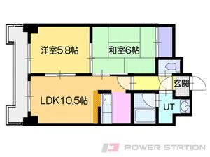 札幌市中央区南12条西9丁目0賃貸マンション間取図面