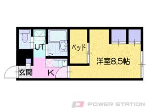 札幌市中央区南12条西9丁目0賃貸アパート間取図面