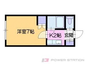 札幌市中央区南13条西9丁目1賃貸アパート間取図面
