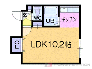 札幌市中央区南13条西9丁目1賃貸マンション間取図面
