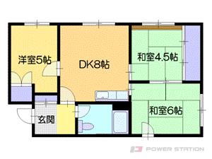 札幌市中央区南14条西11丁目0賃貸アパート間取図面
