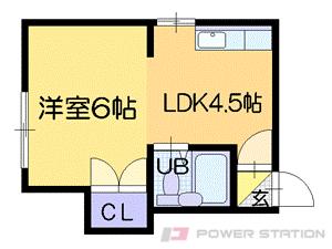 札幌市中央区南13条西6丁目0賃貸マンション間取図面