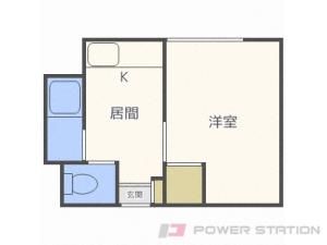 幌平橋1Kアパート図面