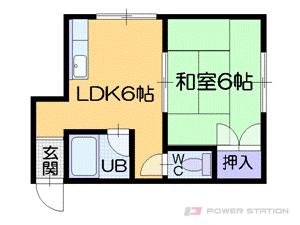 札幌市中央区南14条西8丁目1賃貸アパート間取図面