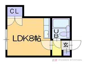 札幌市中央区南14条西8丁目0賃貸マンション間取図面